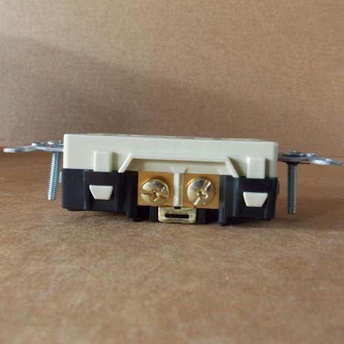 Hubbell DR20I Duplex Receptacle 20 Amp 125VAC, Nema 5-20R, Ivory - New