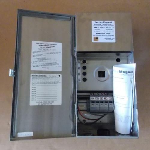 TechnoMagnet MT-200-SS-277 Lighting Transformer 277V to 12/13/14/15V N3R - New