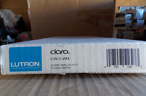 Lutron Claro CW-5-WH 5 Gang Wallplate White -  New