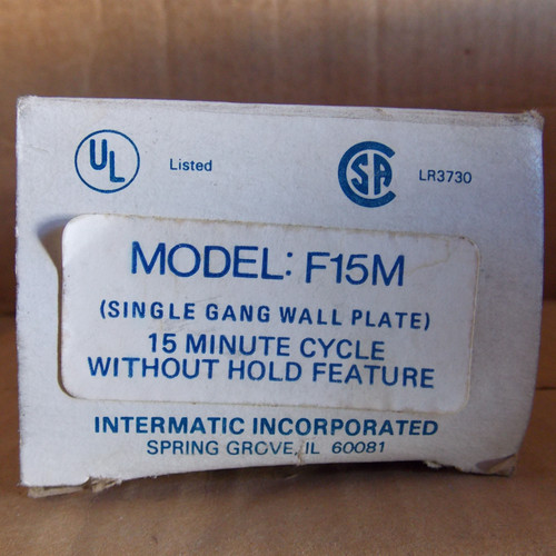 Intermatic Model F15M 15 Minute Cycle w/o Hold Feature - New