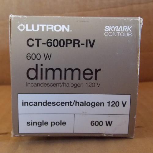 Lutron Skylark CT-600PR-IV Incandescent/Halogen Dimmer 600W, Ivory - New