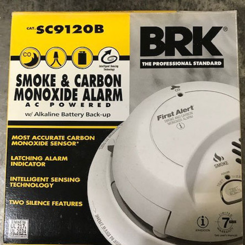 BRK SC9120B Smoke & Carbon Monoxide Alarm AC Powered - New
