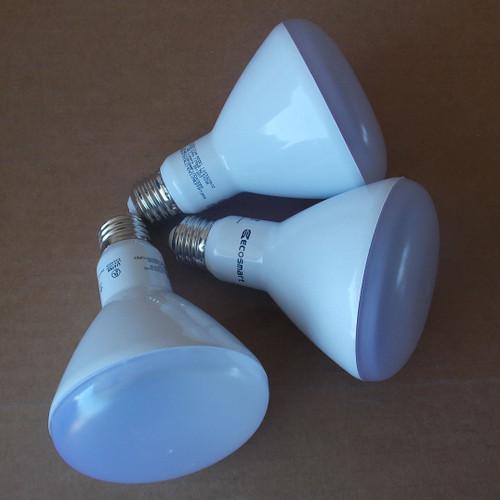 EcoSmart BR30 65W Equivalent LED Light Bulbs, Daylight, 3 pack - New