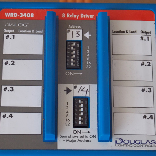 Douglas Lighting Controls WRD-3408 Relay Driver, 8 Output, DIP Set - New