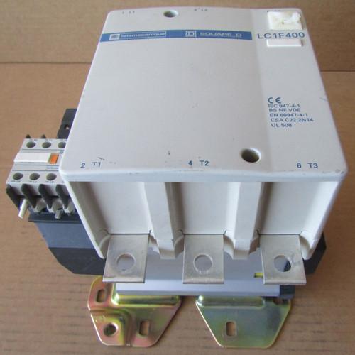 Telemecanique LC1F400 Contactor 3 Pole 600VAC 420 Amp LX1 FJ 415 Coil - Used