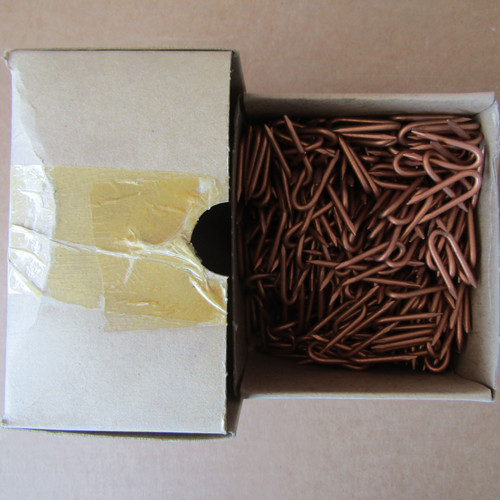 Hubbell C205-0224 Copper Coated Diamond Point Staples 1-1/4 x 1/4 x .114 - 500 Pc - New