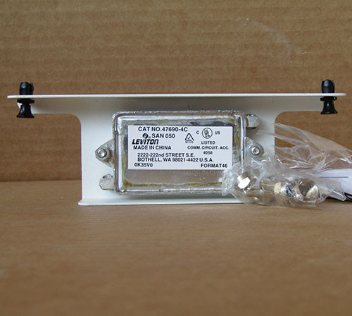 Leviton 47690-4C 1X4 Passive Video Splitter 1GHZ 75 Ohm in White