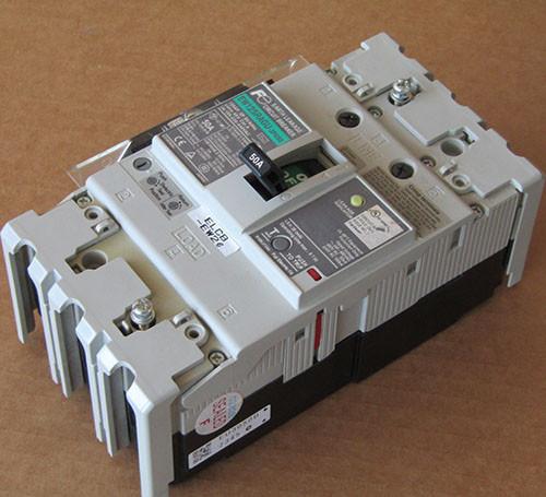 Fuji EW125RAGU-3P050 3 Pole 50 Amp Earth Leakage Circuit Breaker - Used