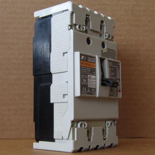 Fuji BW125RAGU-2P015 2 Pole 15 Amp Auto Circuit Breaker - Used
