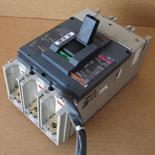 Merlin Gerin NSJ400H 3 Pole 400 Amp 600VAC Compact Circuit Breaker - Used