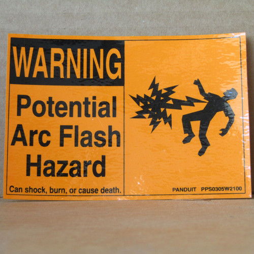 Panduit PPS0305W2100 Arc Flash Sign 5 Cards/Bag  (3 Bags) - New