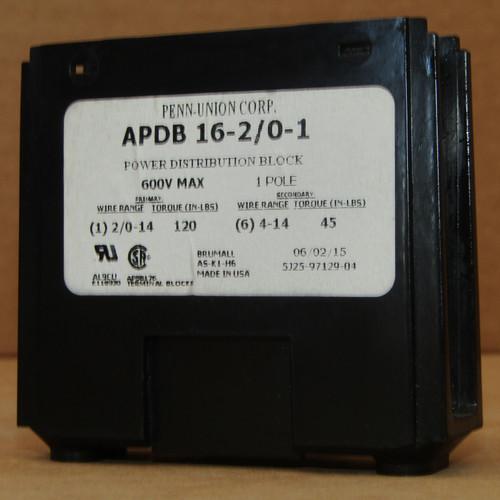 Penn-Union Corp APDB 16-2/0-1 Power Distribution Block 600V 1 Pole  - New