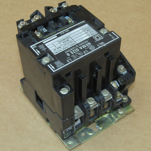 Square D 8502 SB02 Size 0 Contactor 3 Phase 120V Coil - Used