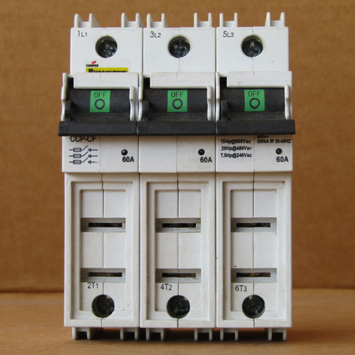 Bussmann CCP-3-60CF Finger-Safe Fuse Block with Disconnect Switch, New