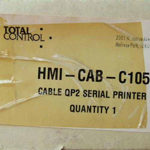 Total Control HMI-CAB-C105 Rev A Cable QP2 Serial Printer - New
