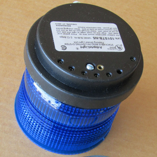 Edwards Signaling 101STB-N5 AdaptaLight Stackable Beacon Flashing Strobe Blue - Ne