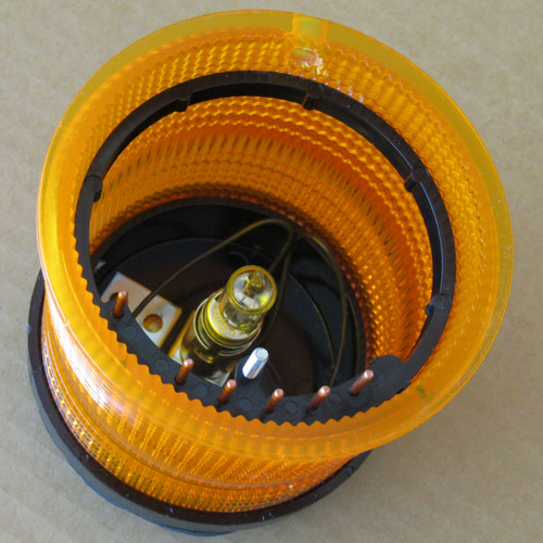 Edwards AdaptaLight 101SINHA-N5 Stackable Beacon Light Amber 120V -New