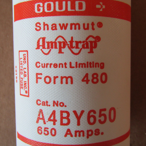 Gould Shawmut Amptrap A4BY650 650 Amp 600VAC Current Limiting Fuse - New
