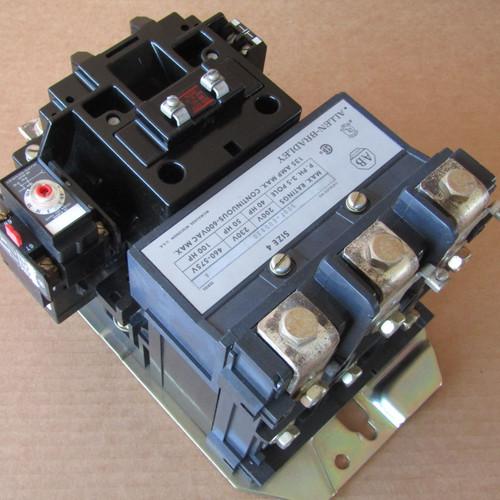 Allen-Bradley 500F-E0D930 Size 4 Contactor 135 Amp 3 Pole 120VAC - Used