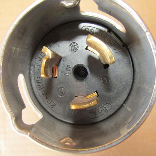 Hubbell CS8265C Twist-Lock Connector Plug 2P 3W 50A 250V - Used