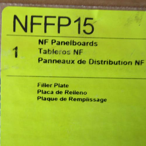 Square D NFFP15 Filler Plates, Series E1, Box of 15 - New