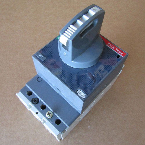 ABB E93565 SACE Tmax T1N 3 Pole 40 Amp 480/600V Rotary Circuit Breaker  - Used