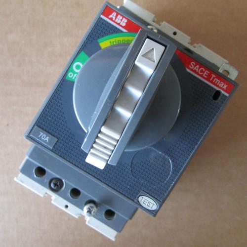 ABB E93565 SACE Tmax T1N 3 Pole 70 Amp 480/600V Rotary Circuit Breaker  - Used