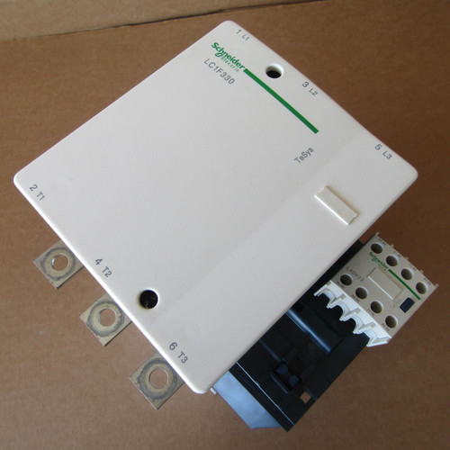 Schneider Electric LC1F330 Contactor 3 Pole, 600VAC, 330 Amp with LX1FH1002 Coil - Used