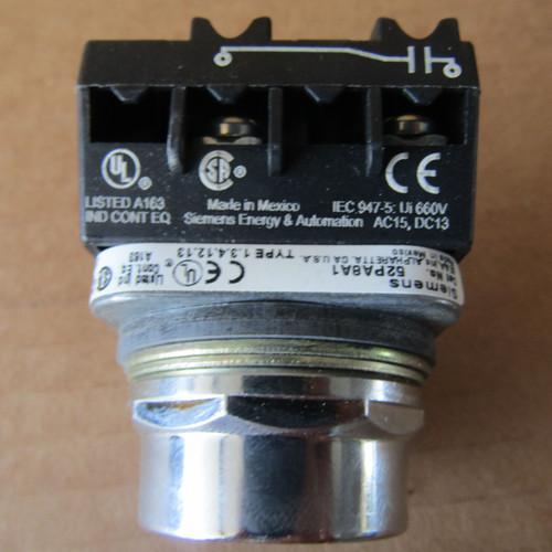Siemens 52PA8A1K Push Button Operator Flush Cap  Black 1NO Nema 4,12 - New