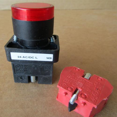 Automation Direct GCX3201-24L 22MM Illuminated LED Pushbutton Switch Red 1NC - New