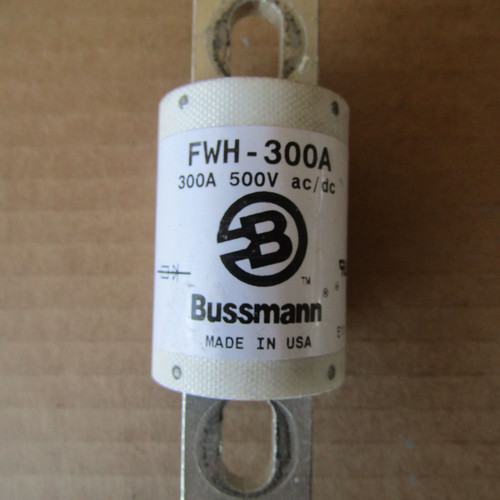 Buss FWH-300A 300 Amp 500V AC/DC Semiconductor Fuse - Used