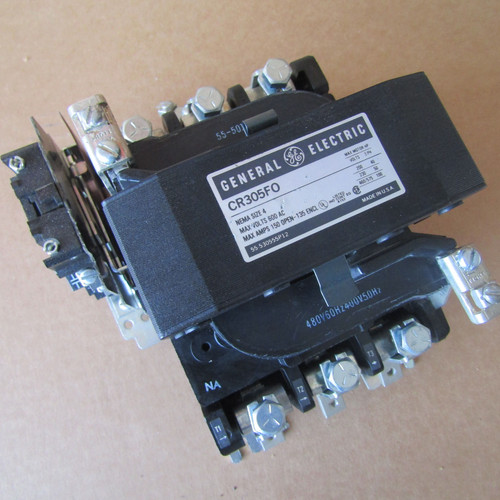 General Electric CR305F0 Size 4 Magnetic Contactor 150A 3PH 480V Coil - Used