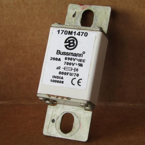 Bussmann 170M1470 200 Amp 690V 700V 000FU/70 High Speed Fuse - Used