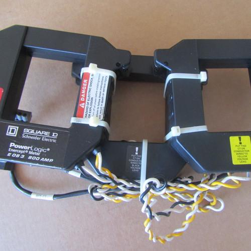 Square D 3020E083 PowerLogic Enercept Meter 800 Amp 208-480V- Used