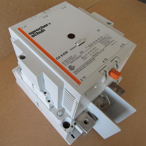 Sprecher + Schuh CA6-630 Contactor 3P, 630A, 240V Coil,  - Used