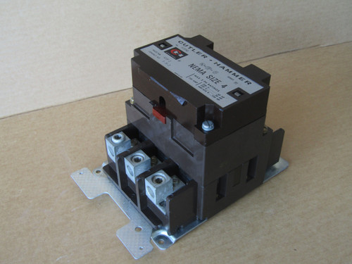 Cutler Hammer A10FN0 Size 4 Contactor 3PH 135 Amp 120V Coil Series B1 - Used