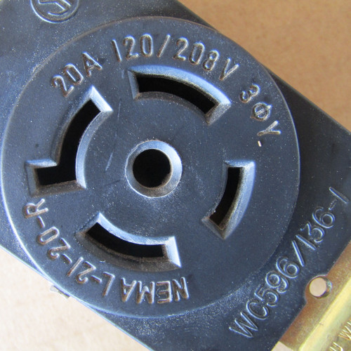 Pass & Seymour L2120-R 20 Amp 3PH 120/208V 4P 5W Grdg Turnlok Receptacle - New