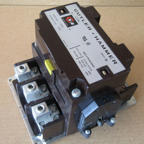 Cutler Hammer C32KN3 Magnetic Contactor 3PH 200A 480V Coil Series B1 - Used