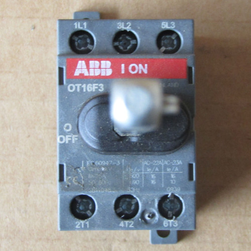 ABB OT16F3 Open Disconnect Switch 3 Pole 16 Amp NF - Used