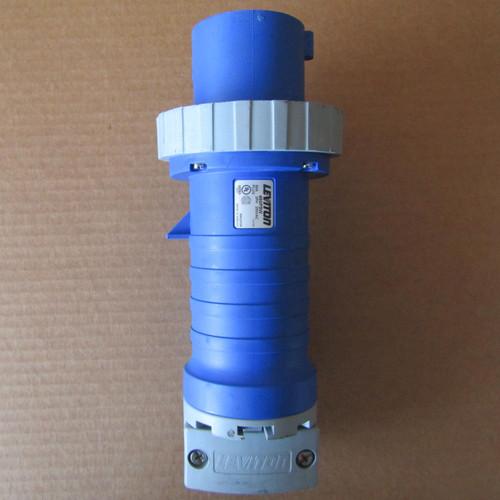 Leviton 460P9W Watertight Male Connector 60A 3PH 3P 4W 250VAC Blue - Used
