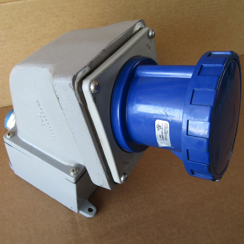 Russellstoll RS4100R9W Watertight Receptacle 100A 3PH 10HP 3P 4W 250VAC - Used
