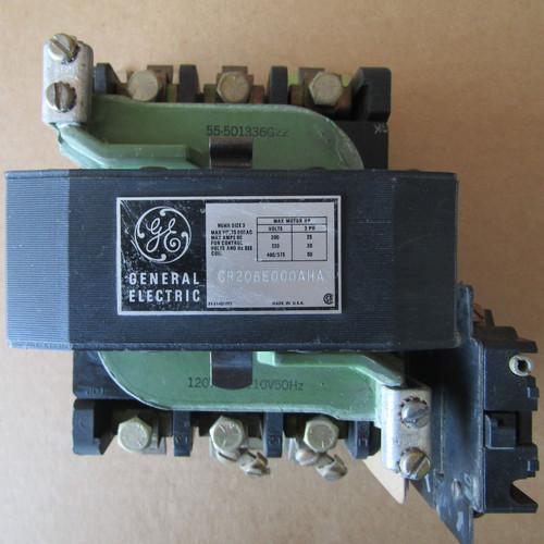 GE CR206E000AHA Size 3 Magnetic Starter 3 Phase 90 Amp 600V 120V Coil - Used