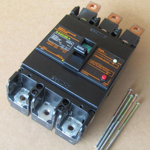 Fuji SG203BA 3 Pole 225 Amp Earth Leakage Breaker  - Used