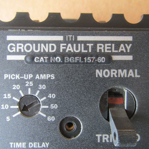 ITI BGFL157-60 Ground Fault Relay 120VAC 0.015 Amps Max -  Used