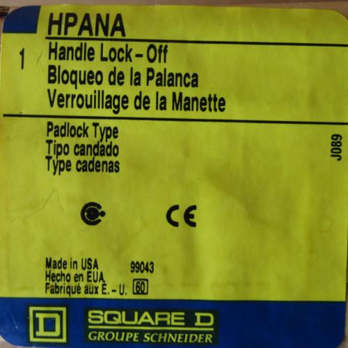Square D HPANA Handle Lock- Off Padlock Type - New