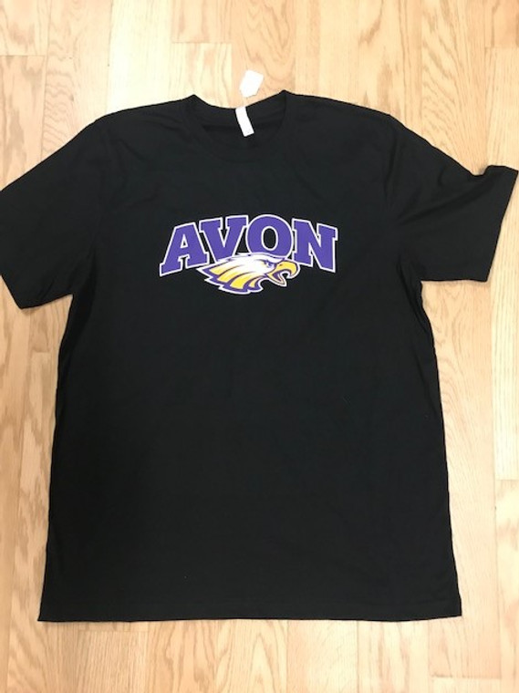 Avon Eagle design on a black tee.