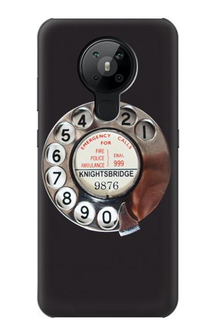 S0059 Retro Rotary Phone Dial On Case For Nokia 5.3