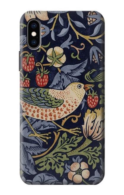 S3791 William Morris Strawberry Thief Fabric Case For iPhone X, iPhone XS