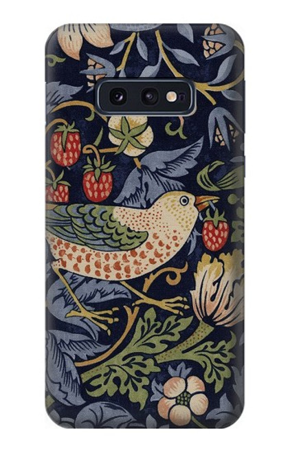 S3791 William Morris Strawberry Thief Fabric Case For Samsung Galaxy S10e