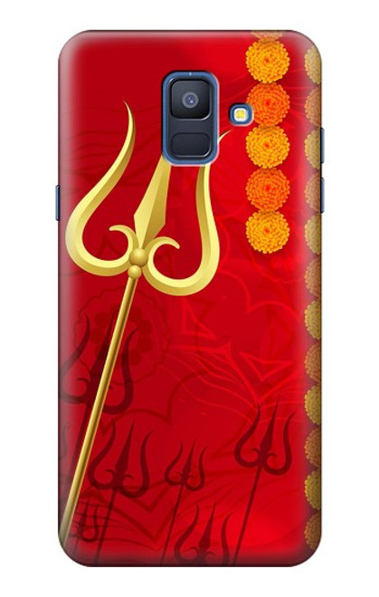 S3788 Shiv Trishul Case For Samsung Galaxy A6 (2018)